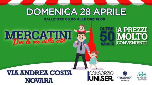 Shopping e divertimento domenica in via Andrea Costa a Novara