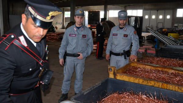 furto rame carabinieri forestale 2-2