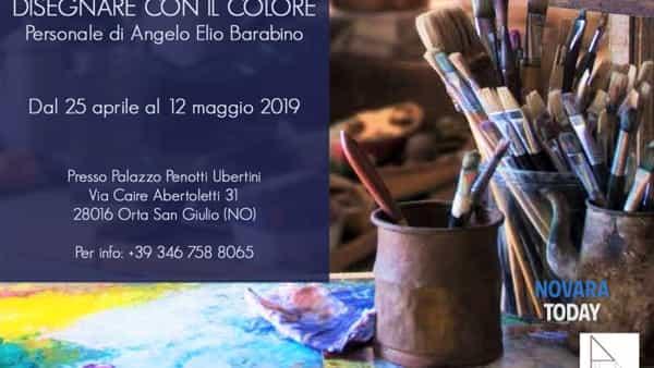 Disegnare con il colore: personale di Angelo Elio Barabino a Orta San Giulio