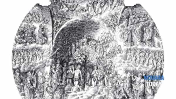 """""""la conchiglia e la piuma: vie di pellegrinaggio e sacri monti nei disegni di francesco corni""""-4"""