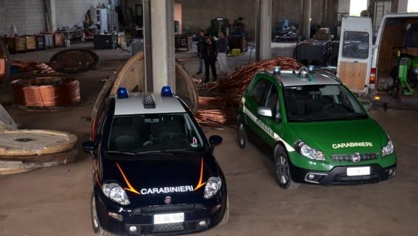 furto rame carabinieri forestale 1-2