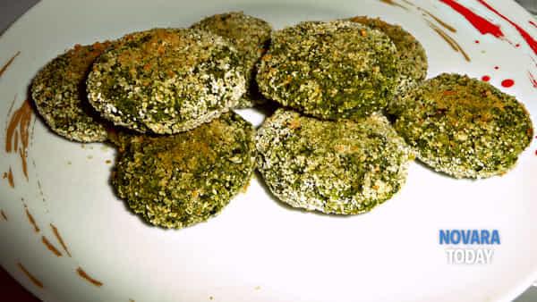 Mini burger di piselli e spinaci