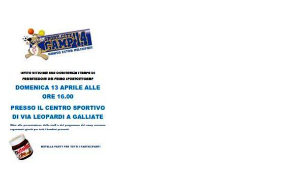 Sport City Camp: Galliate è pronta ad offrire un' estate di sport