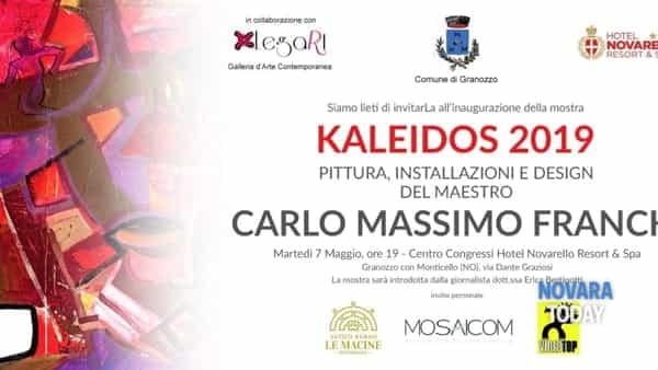 "Novarello: mostra ""Kaleidos 2019"", personale dell'artista Carlo Massimo Franchi"