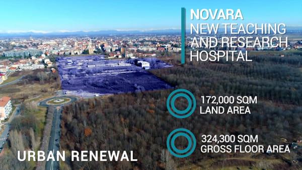 Nuovo ospedale di Novara: il video di presentazione della Città della Salute e della Scienza