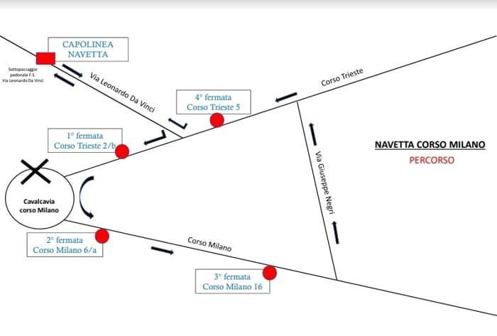 percorso navetta cavalcavia porta milano-2