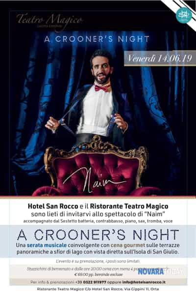 a crooner's night con naim , cena con concerto